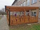 Nowy zadaszony taras w Klubie dziecięcym Maluszek w Błażowej.